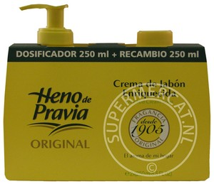 Heno de pravia products from spain soap shower gel agua for Dosificador jabon ducha